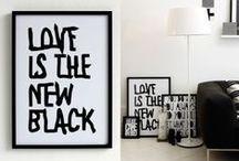 Monochromatic black & white / black & white interiors