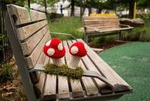 Yarn Bombing / Something I've only discovered since joining Pinterest, but as a lover of yarn I couldn't help but love these cute and randomly placed knitted pieces.