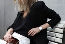 Minimal In Monochrome / Black and white outfit inspiration for a simpler style.