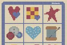 Beautiful things: Cross stitch / Punto de cruz