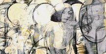 Vladimir Eryshev / Владимир Ерышев - Оренбургский художник,  член Союза художников России, выпускник Московского института им. Сурикова. Название выставке дало одно из определений каллиграфии (с греческого καλλιγραφία — «красивый почерк»)  -  искусство оформления знаков в экспрессивной, гармоничной и искусной манере.  Экспозиция содержит две части. Первая часть представляет собой ряд женских образов. Темы этого ряда сосредоточены вокруг нескольких смысловых центров – эстетика, динамика, красота.