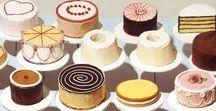 Dessert Painting / Desset Illustration, Food Illustration, Watercolour Pastry, Watercolour Dessert.