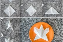 How to Fold a Napkin / Our easy-to-follow tutorials on how to fold a napkin! With photos!
