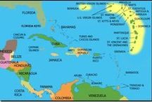 The Caribbean & Central America / Islands and countries that are part of the North American Continent / by Sandi Seashell