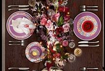 Pantone Color Table Setting, Radiant Orchid / Wedding, party, and table inspiration for Pantone's Color of the Year, Radiant Orchid!
