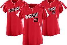 Custom Softball Uniforms & Apparel / Design custom apparel for players, coaches & fans! http://www.teamsportswear.com/customsoftballjerseys