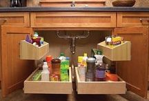 Kitchen Ideas / Clever kitchen hacks to make the most of the available space.