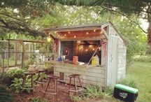 Tiki Bars and Bar Sheds / The man cave has evolved. The summer of 2015 will be all about outdoor bar sheds. Most of these can be made in a weekend and they'll make your backyard feel like you're on vacation all summer long.