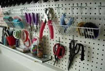 INSPIRED - Pegboards / Pegboards are a HUGE organizational trend for hobbyists of all types: crafters, sewers, mechanics, culinary geniuses. #Craft #Organization #Pegboards #DIY #    INSPIRATION BOARD for http://wp.me/p5zY54-qf