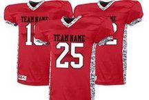 Custom Football Uniforms & Apparel / Create custom football gear for players, coaches, cheerleaders, and fans! http://www.teamsportswear.com/customfootballuniforms