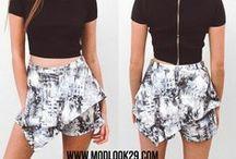 Bottoms / Modlook 29 / Shorts, Long pants, Maxi Skirts, Mini skirts, Circle Skirts, Pencil Skirts etc.