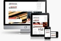 Diseño web para abogados / Diseño web para abogados y bufetes de abogados. http://www.basicum.es/galeria-web/