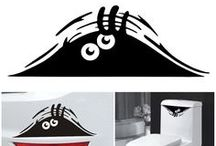 Funny car decals / Find funny car stickers here. There are huge selections of butterfly car stickers, family decal car stickers, white car stickers and sports car stickers. Make you car cool with those vinyl car decals.