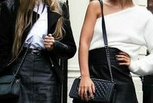 Modlook 29 Picks: Black & White Street Style / Style inspiration from fellow fashionistas in our favorite color combo. Black and White.