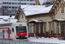 Rautatieasemalla / Railwaystations in Finland