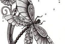 zentangle / drawing ideas / by Anke Metzger