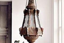 Interiors - Lighting / Oriental lamps.  Lampen.  Lamps. Ceiling lights. Decken Leuchte. Tischlampen. / by Anke Metzger