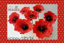 Tutorial Poppies / How to make beautiful poppies. With this tutorial are not words to describe the various steps. If you need explanations revenue on the page Vanilla Cake Boutique