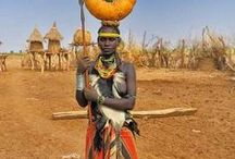 Africa / African inspired fashion. People of Africa. African huts . Afrika. / by Anke Metzger