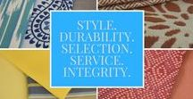 COLORS! / Our various collections are full or patterns and colors to fit any style and need
