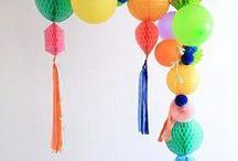 SÜSSE GIRLANDEN / Viele Ideen für Partygirlanden - aus Wabenbällen, Ballons, Tasseln oder Decolinks!