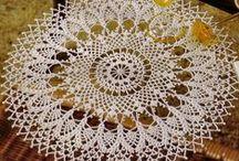 Crochet doilies, lace modules, tablecloths / szydełkowanie serwetki crochet haekeln