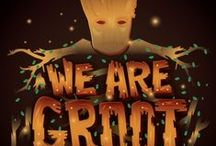 We are Groot! / So here we are: a thief, two thugs, an assassin and a maniac. But we're not going to stand by as evil wipes out the galaxy. I guess we're stuck together, partners.
