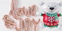WEIHNACHTSDEKORATION / Weihnachtliche Dekoration mit Ballons, Wabenbällen, Fächern und PomPoms! Merry Decorating Everyone!