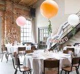 ROSEGOLD LOFT HOCHZEIT / Ein Traum in rosegold trifft auf rustikalen Backstein, Beton und Metall! Gestyled von Balloon Fantasy im Kaiserbad Leipzig. Blumen von saltoflorale.