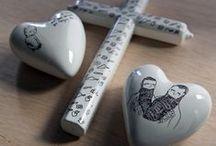 Ceramics / Cerámicas diseñadas y producidas por el artista Aitor Saraiba. ¿Quieres una? Puedes comprarlas en www.guntergallery.com