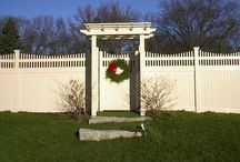 PVC Vinyl Fence / PVC fencing offers low-maintenance and high-quality fence material in a wide variety of styles.