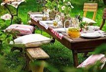 Tischdekoration Sommer / Tischdekoration Sommer, Tischdeko Sommer, Dekoideen im sommerlichen Ambiente