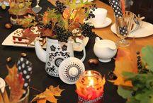 Tischdekoration Herbst / Wir genießen den Herbst am herbstlich gedeckten Tisch.  Tischdekorationen Herbst