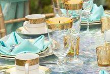 Tischdekoration türkis / Türkis, welch wunderbare Farbe. Frisch und inspirierend.