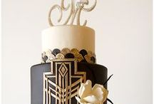 Concepts: Art Deco Desert / Bold colors of black and white with a few hints of gold accents for a clean 1920's art deco feel