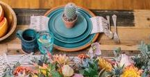 Concepts: Pure and Sweet Desert / Muted desert tones for a clean minimalistic look. White and natural wood with macramé with touches of turquoise and gold. Cactus, succulent and other wild green & white florals in terra cotta pots. Eric & Krystal