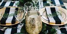 Tischdeko black & white / Tischdekoration schwarz - weiß . Edel, elegant und sehr beliebt eine Einladung zum Dinner black & white. Inspirationen für Deine Tischdeko findest Du hier.