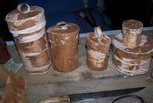 Birch bark and wood crafts