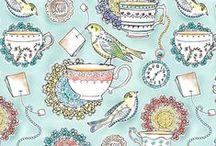 Tea Fabric, Yarn, & other crafty things