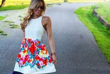 Floral happy dresses! / Opt for classicism with a pretty floral summer dress. Cute strappy dresses, bold colours...