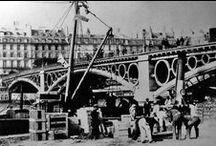Le pont du Carrousel de Paris / Le Pont du Carrousel, obra del ingeniero francés Antoine-Rémi Polonceau, construido en París en el año 1834.