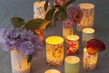 Photophore en papier Japonais / Ces bougies LED créeront un joli décor original et lumineux ! Ils sont réalisés dans notre atelier du Pré Saint Gervais