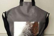 Textil-bőr táskák / Levary bag design egyedi textil és valódi bőr kombinációban készített táskái.
