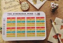 Stickers / Not just for planners! Great for scrapbooking, journaling, gift-wrapping, card-making, invitations, rewards, motivation, arts and crafts projects, and just because. Functional and decorative.