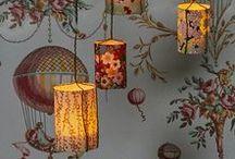 Bougies LED &  papiers peints / Les bougies LED sont inspirantes car elles ne produisent pas de chaleur, voici quelques idées imaginées à partir de papiers peints somptueux.