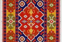 Cross stitch -  Miniature & big rug patterns