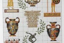 Cross stitch -  Greek patterns