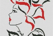 Cross stitch - Woman patterns
