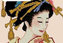 Cross stitch - Geisha patterns