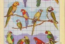Cross stitch - Birds patterns